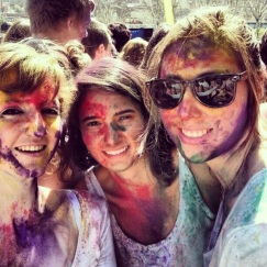 Friends at Holi Color Barcelona